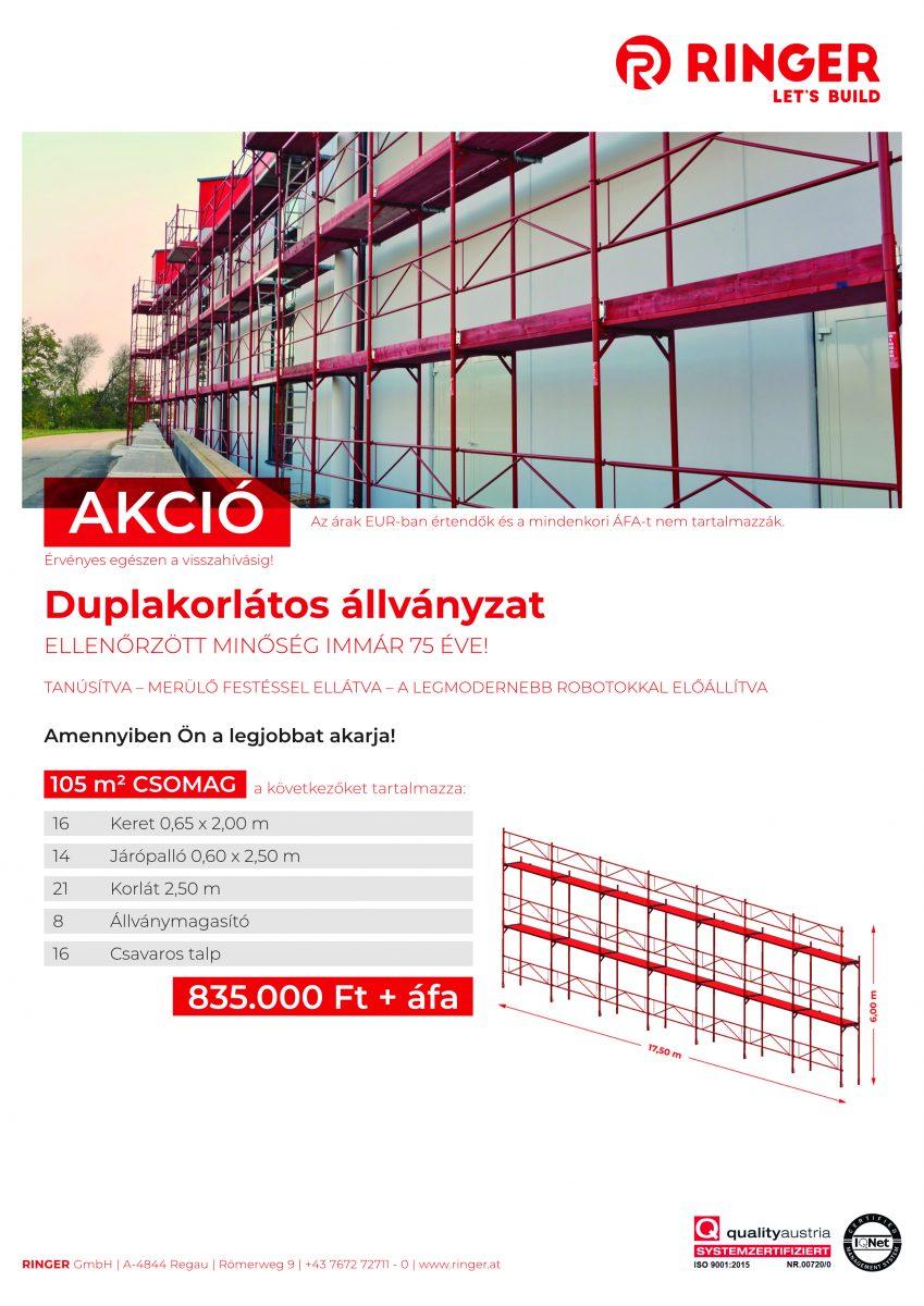 105 m2 Ringer állvány